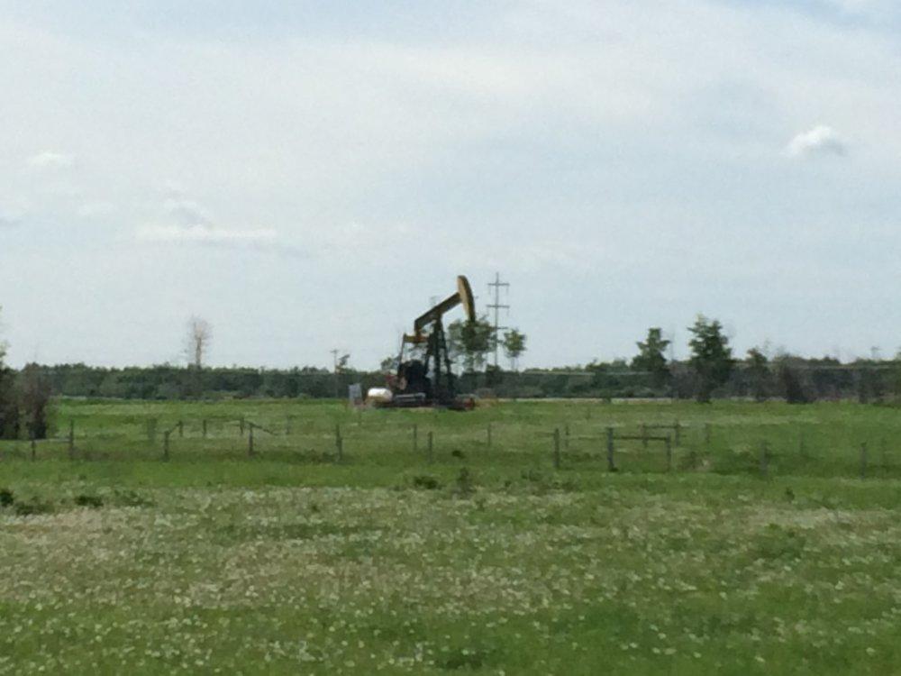Oil rig in northern Alberta.