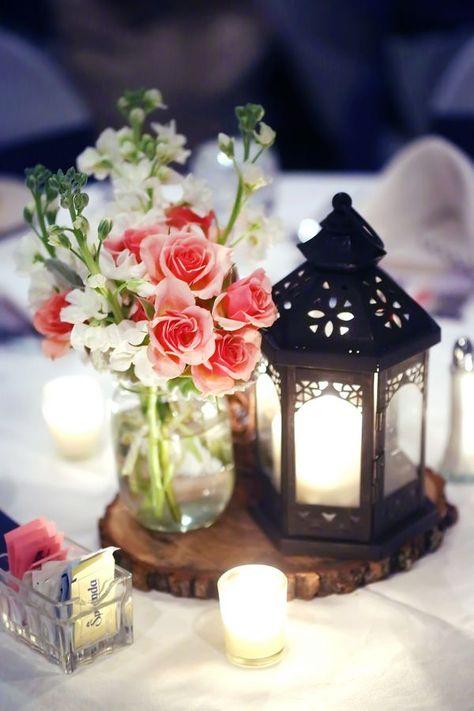 pink wedding flower centerpiece anya storm photography blog