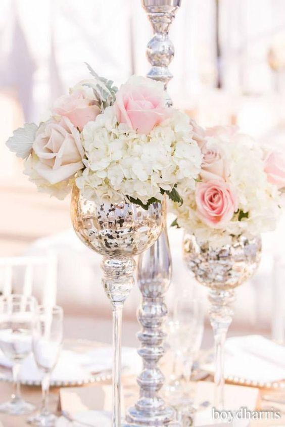 anya storm photography fancy elegant centerpiece wedding flowers roses pink