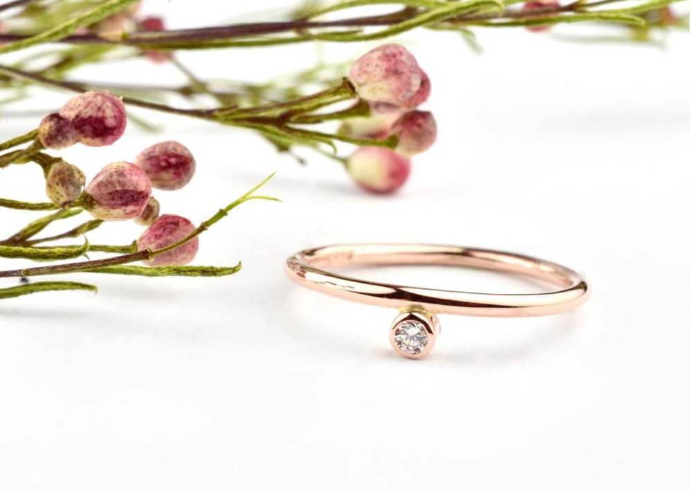 rose gold wedding band diamond trend fashion ring