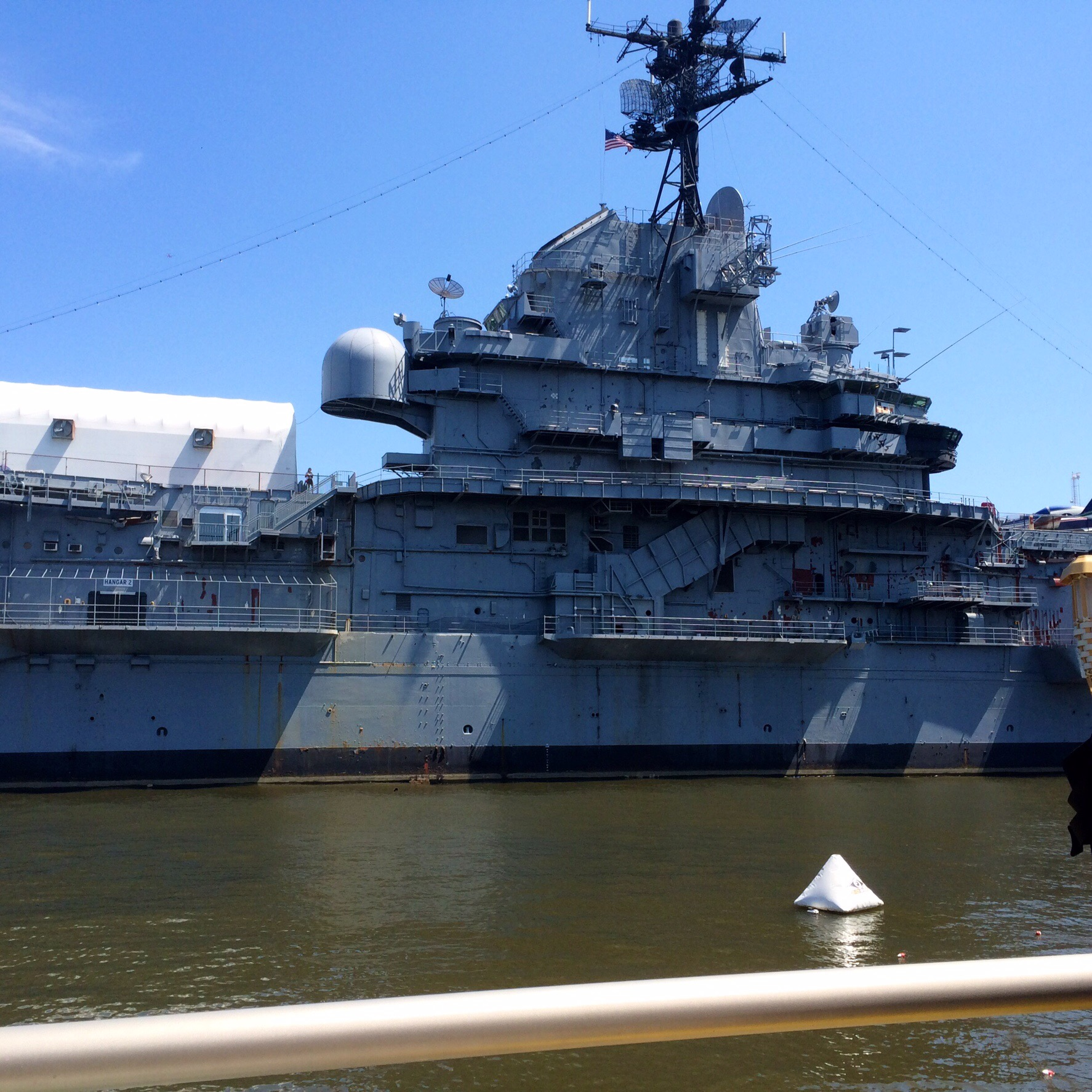 The Intrepid. We got to paddle right up to this beast!