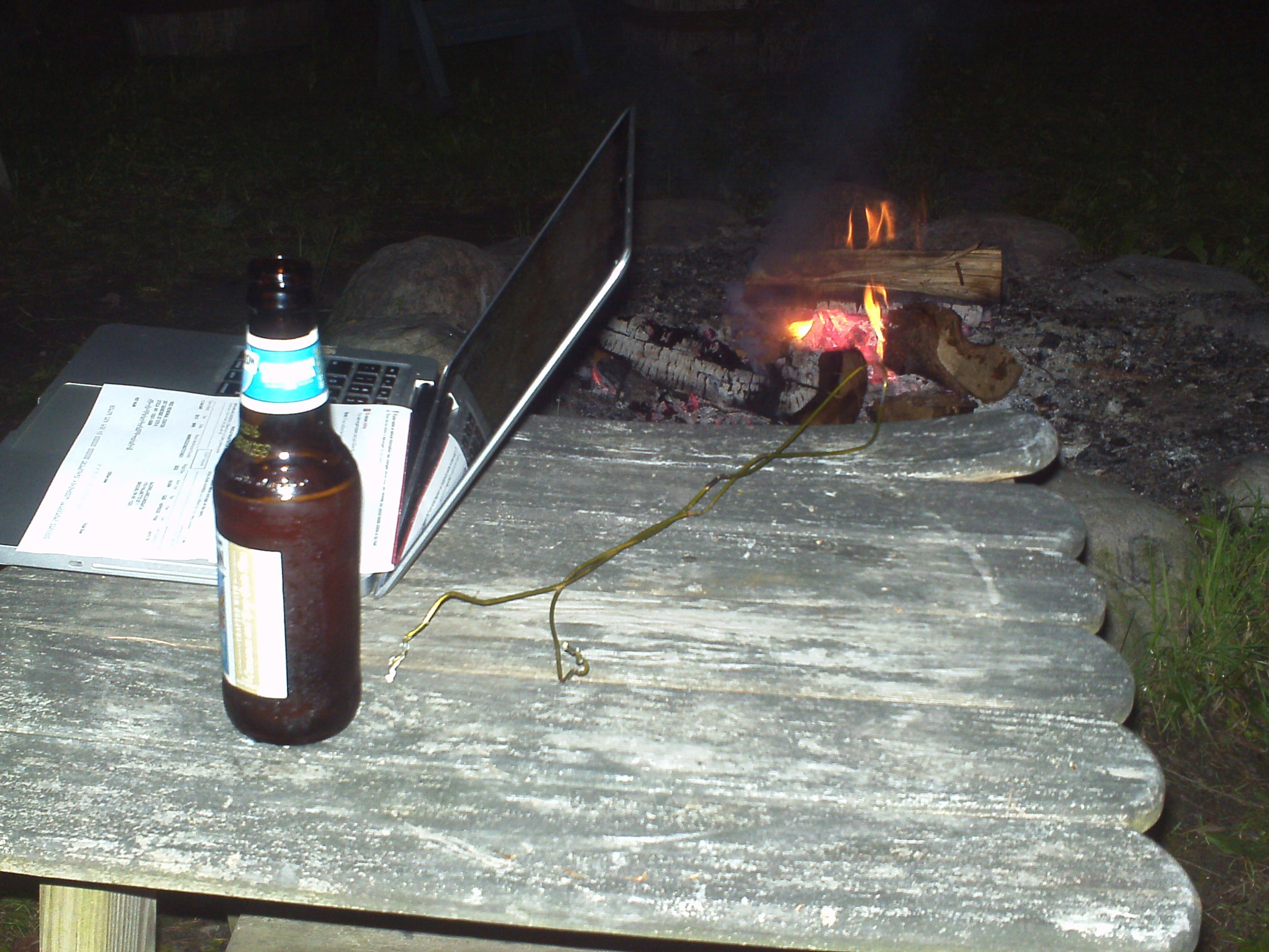 We had wifi reception by the fire pit (no work allowed though!)