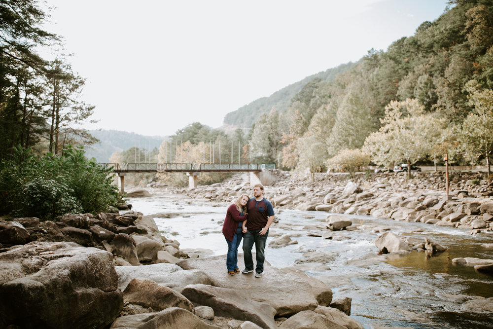 Kaitlin + Blake + Chattanooga + Tennessee + Engagement + Ocoee River + Wedding + Photographer-20.jpg