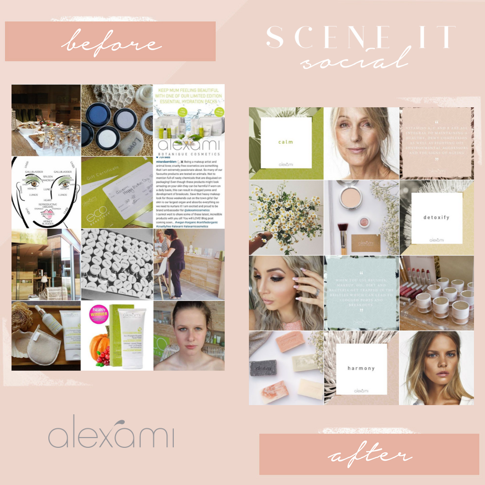 Alexami Cosmetics - WWW.ALEXAMI.COMAlison was after a professional and stylish edge to her social media feed. She had difficulty portraying how elegant and simple her natural cosmetics brand is and wanted to ensure her followers were being educated on the importance of natural skincare.