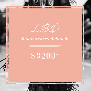 LBD - $3200 - A website that you can 100% manage yourself and easily update/make changes to perfect for online stores, retail stores and consultancies with digital products.Package Includes:Wordpress Woo Commerce or Shopify6 page eCommerce websiteHome page with sliderMobile ResponsiveMailchimp IntegrationSocial Media IntegrationBasic SEO Optimisation and Set Up (Google Set Up)Set Up CMS with own admin access (easy to maintain)Up to 20 products uploaded* Additional features quoted separately* Copywriting & Photography not included* Pricing inclusive of GST
