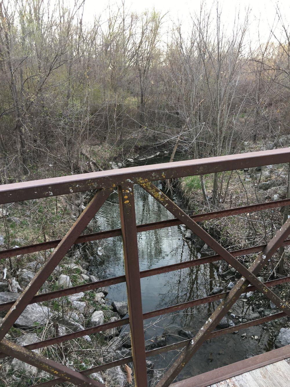 Bridge crossing over the small creek