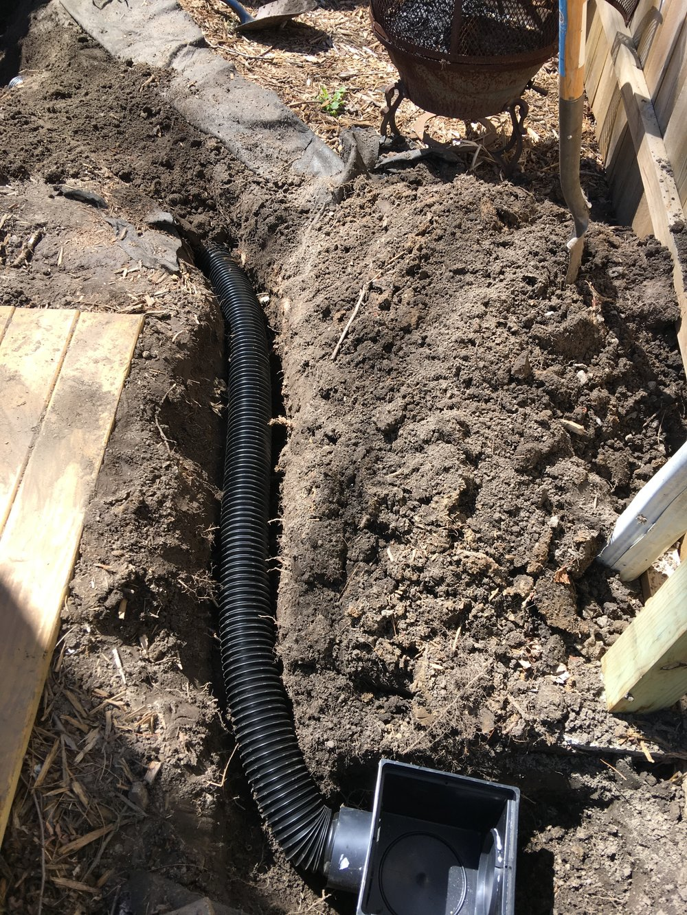 Catch basin and the flexible pipe