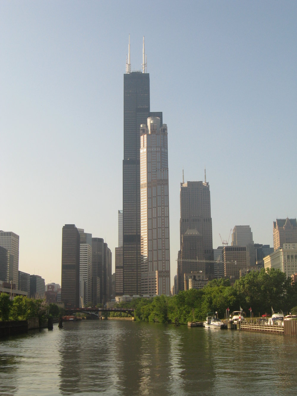 View from the Chicago River where once only tourist ferries and boats floated