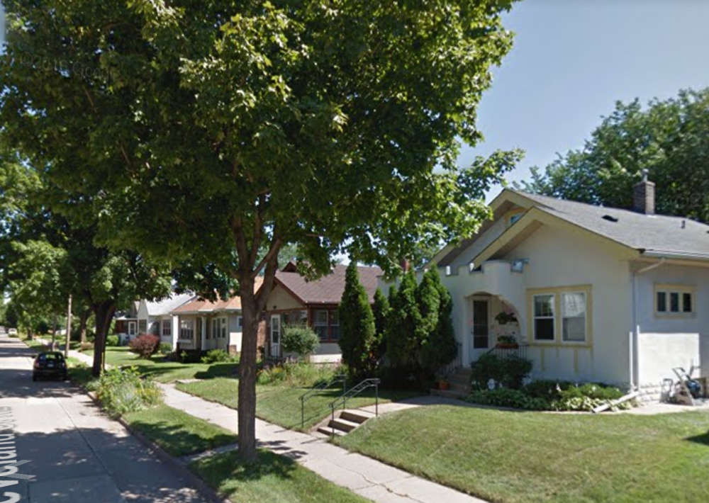 Google street view of my future street in Northeast, Minneapolis