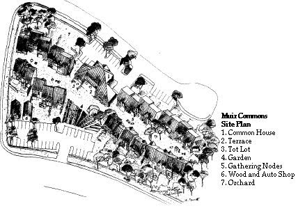 Muir Commons, a cohousing community in Davis, California (photo courtesy of http://www.muircommons.org/)