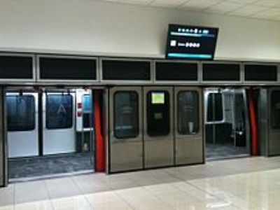 The underground rail line running between terminals at the Atlanta Airport (image courtesy of Wikipedia)