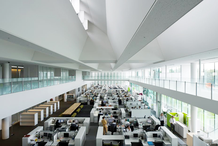 Obayashi Corporation's Technical Research Institute (image courtesy of inhabitat.com)