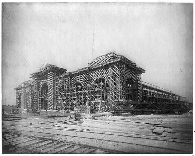 Mines Building under construction  (Image from the Library of Congress)