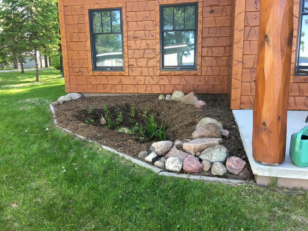One of many rain gardens I have installed since my training as a Master Water Steward