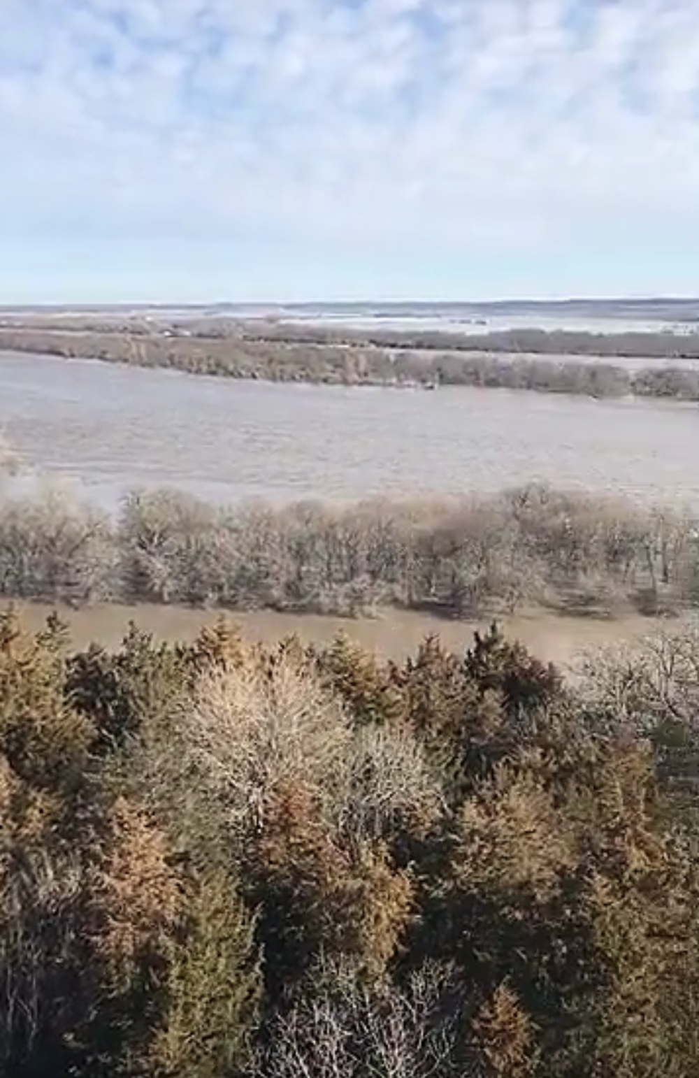 The Platte River at a record high this weekend