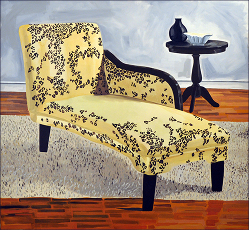 Stephanie Patton,  Chaise Lounge , acrylic on canvas, 56x60 inches, 2010