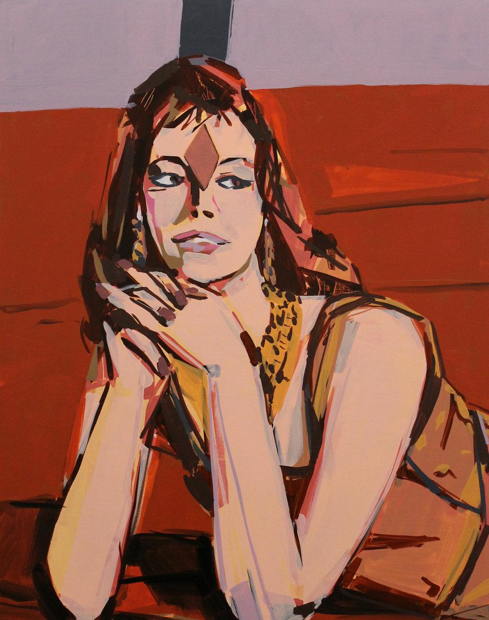 """Peter Hoffman, Velvet Carpet, Oil on canvas, 28x22"""", 2018.jpg"""