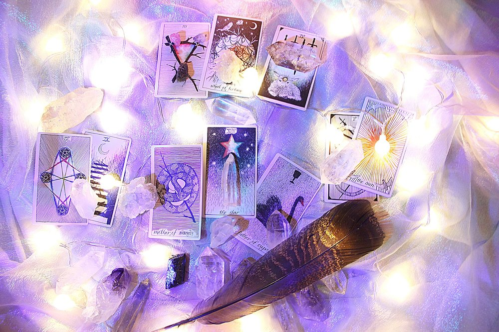*image of my reading and energy working with the crystals, colors and lights...