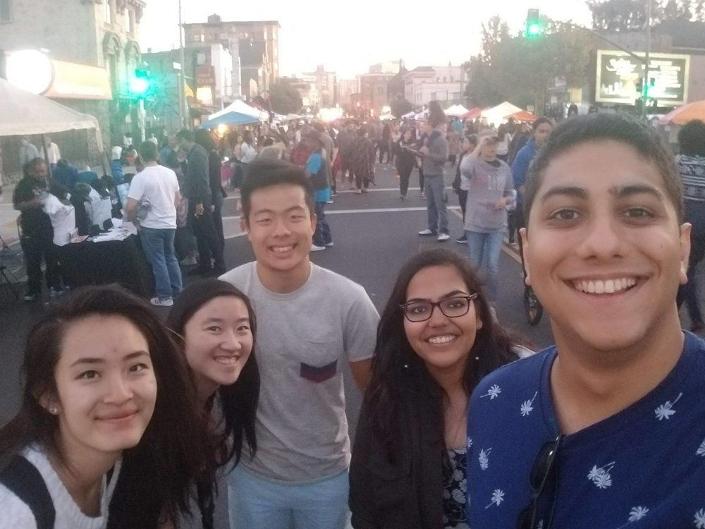 Our team after outreach at Oakland First Friday