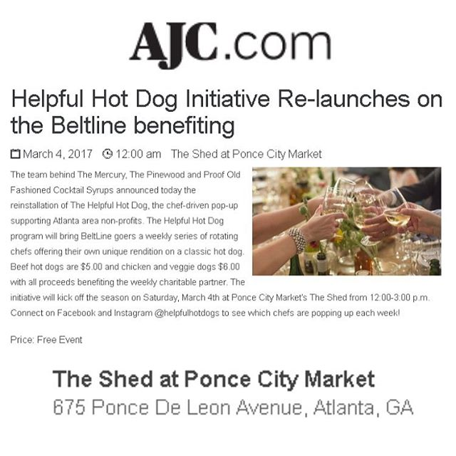 Thanks @ajcnews 😄❤️🌭Also be sure to check out our segment on @atlantapluggedin at www.cbs46.com