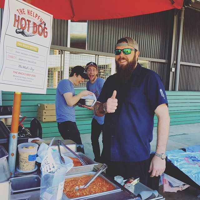 Come on out to see @andy12786 from @pinewoodtr making his bomb Backyard Brunswick Stew dog! We out here benefitting @amplifyconcerts