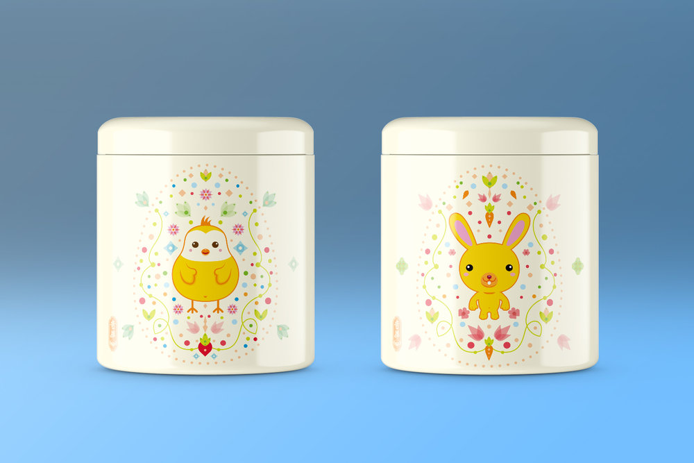 Easter Twin Tin Box Packaging Design