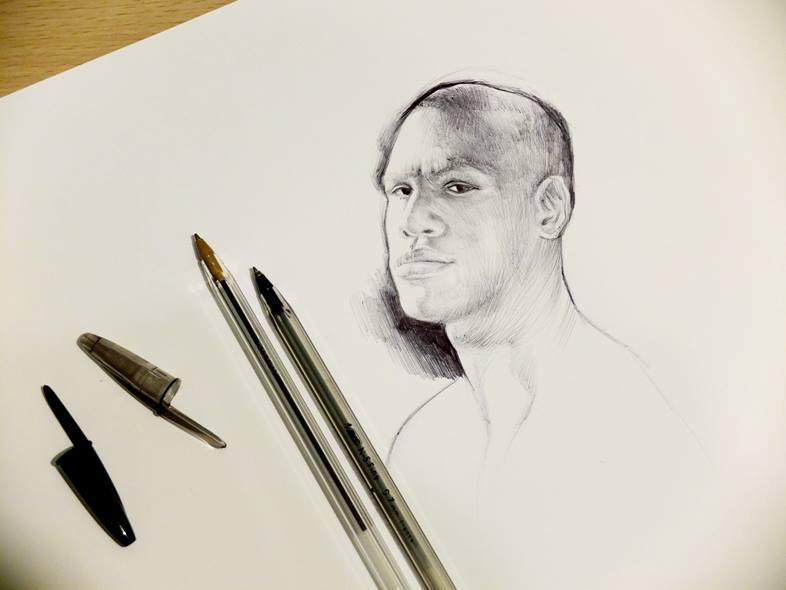 Floyd Mayweather/Ballpoint Sketch