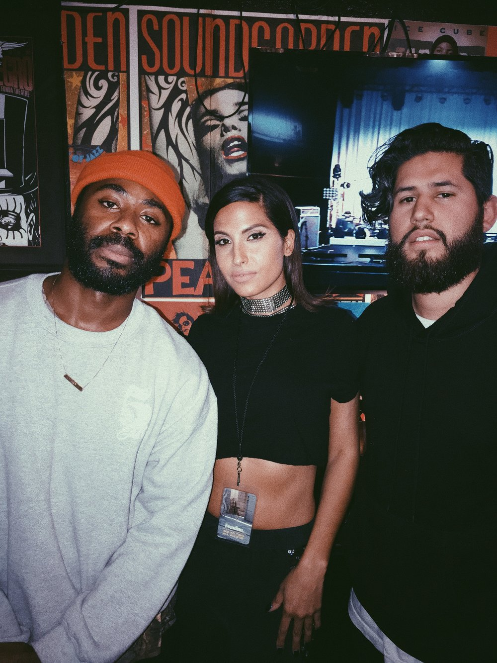 Marcus & I backstage with Snoh after opening up for Daniel Caesar during The Freudian Tour.