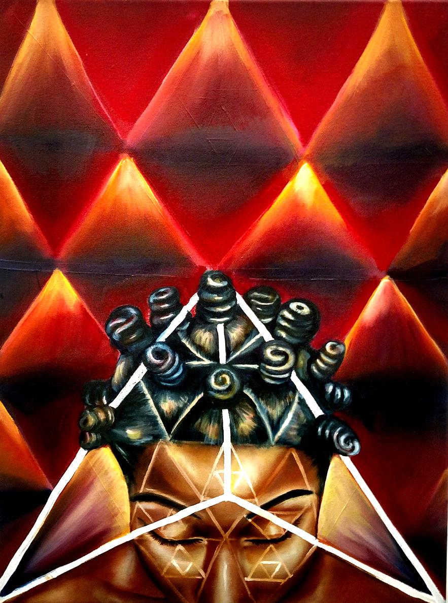 """Oya  Oil on Canvas  24"""" x 18""""  2015"""