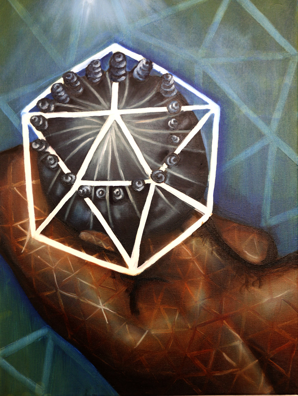 "Yemaya  Oil on Canvas  24"" x 18""  2015"