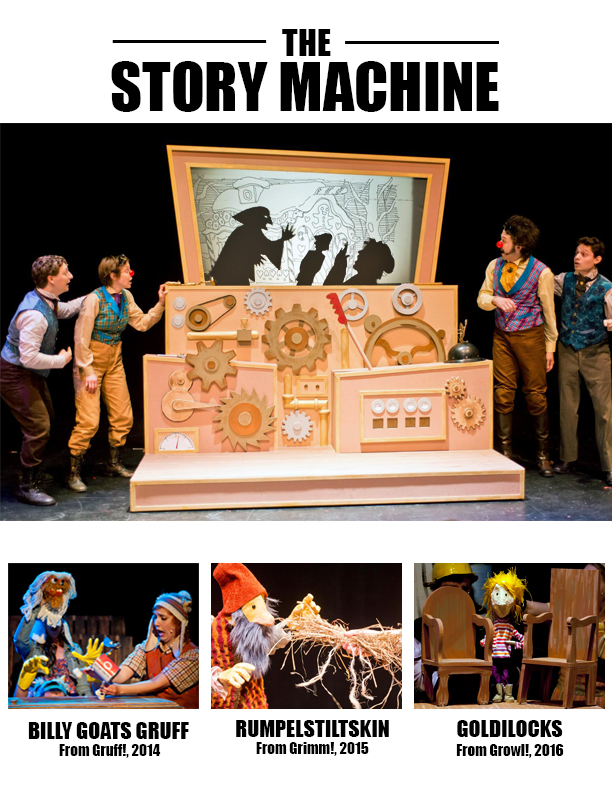 This was the image we submitted with our grant application to the Jim Henson Foundation - all of these photos (taken by Ken Ek) are from Muhlenberg Summer Music Theatre.