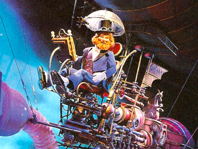 Dreamfinder from Journey into Imagination! a ride at Disney World that Ora and Chris were both obsessed with as kids (we're still somewhat obsessed with it)