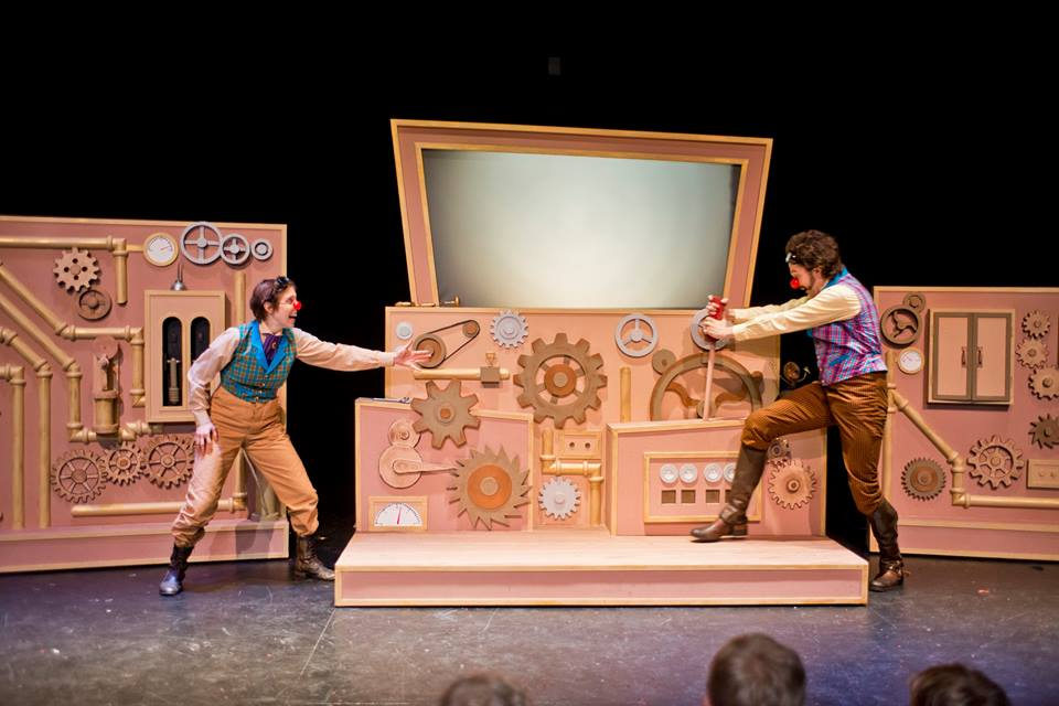 """The Machine We Use to Collect Stories"" from  Grimm!  at Muhlenberg Summer Music Theatre 2015."