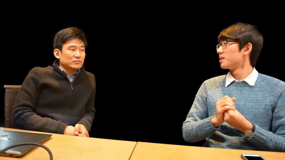 퓨처 플레이 한재선 CTO(좌)와 KE 1기 멤버 감태병 학생(우)