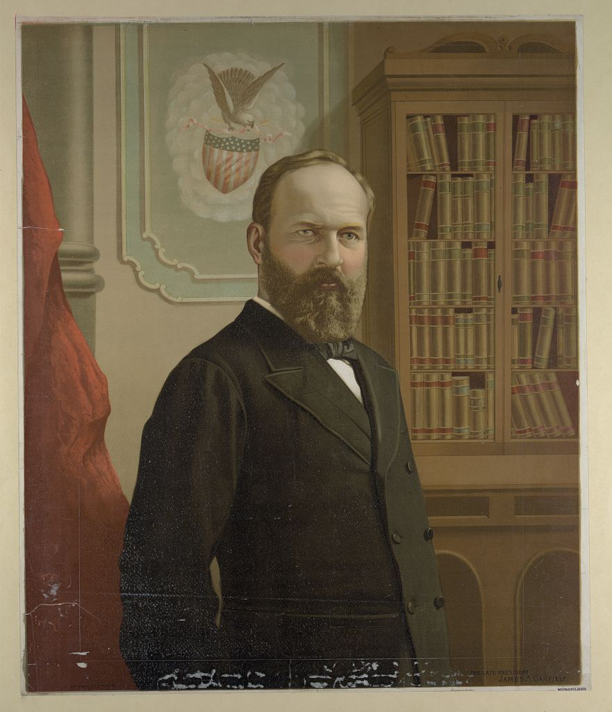 """James A. Garfield,"" By Gilman, G. F., copyright claimant - Library of CongressCatalog: http://lccn.loc.gov/2005687059Image download: http://cdn.loc.gov/service/pnp/pga/01300/01369v.jpgOriginal url: https://www.loc.gov/pictures/item/2005687059/, Public Domain, https://commons.wikimedia.org/w/index.php?curid=66273601"