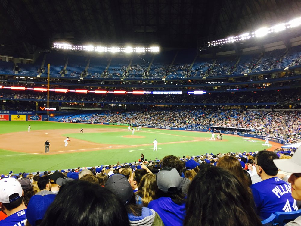Back in Toronto we saw the Blue Jays play baseball and then the Raptors in the playoffs.