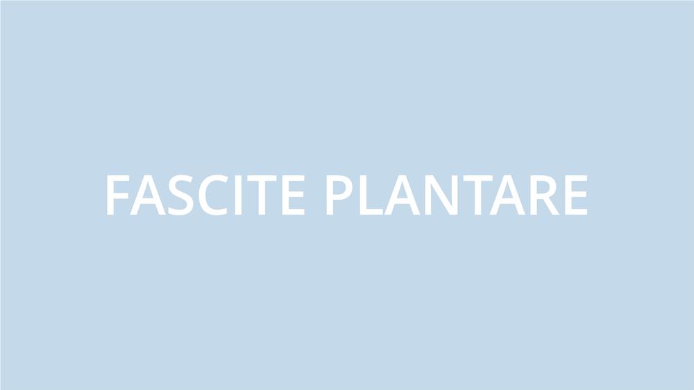 fisioterapia ughetta piacenza - fascite plantare