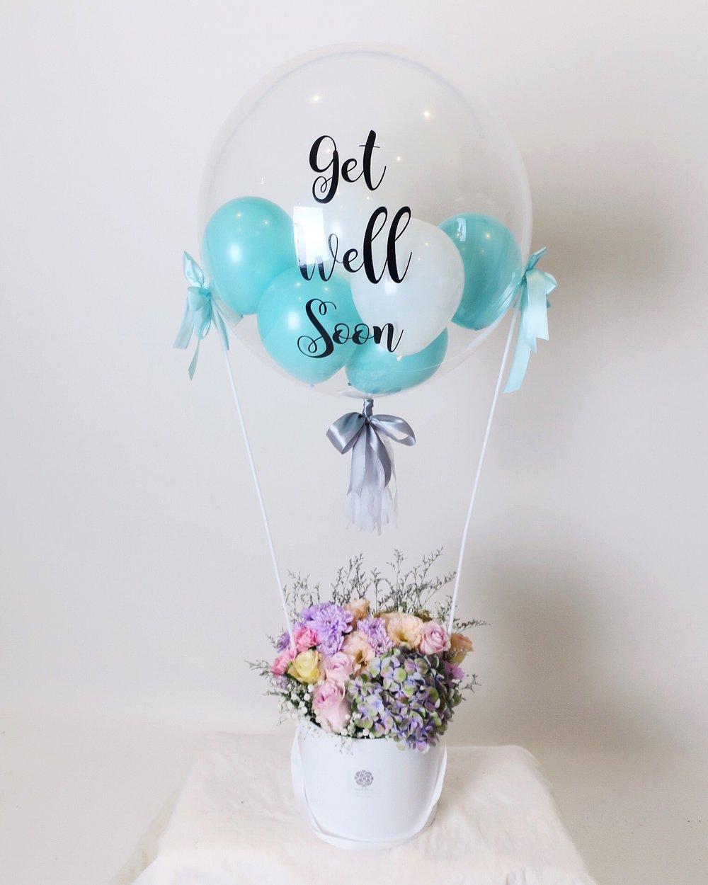 Fresh Flowers Hot Air Balloon (Customisable!) — Mood Fleur