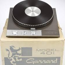 Garrard 401 turntable manufactured 1965-1976.