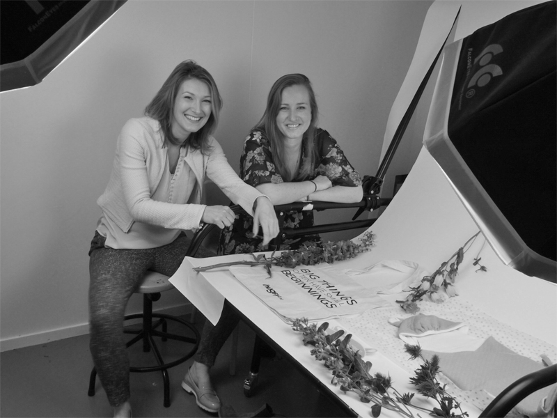 Hugsy co-founders: Jody van den Tillaart and Sylvie Claes