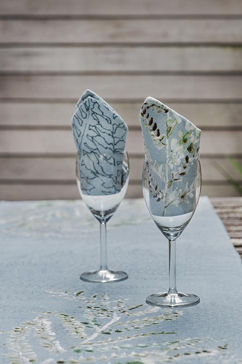 Table Runner & Napkins. Digital print. Irish linen. Ferns