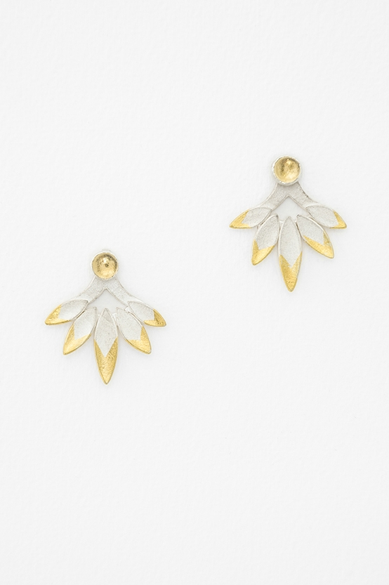 Flight Ear Jackets.   Silver, Keum-boo, Citrine