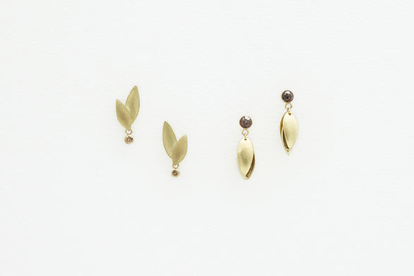 Diamond Wing Studs and Diamond Nestling Studs