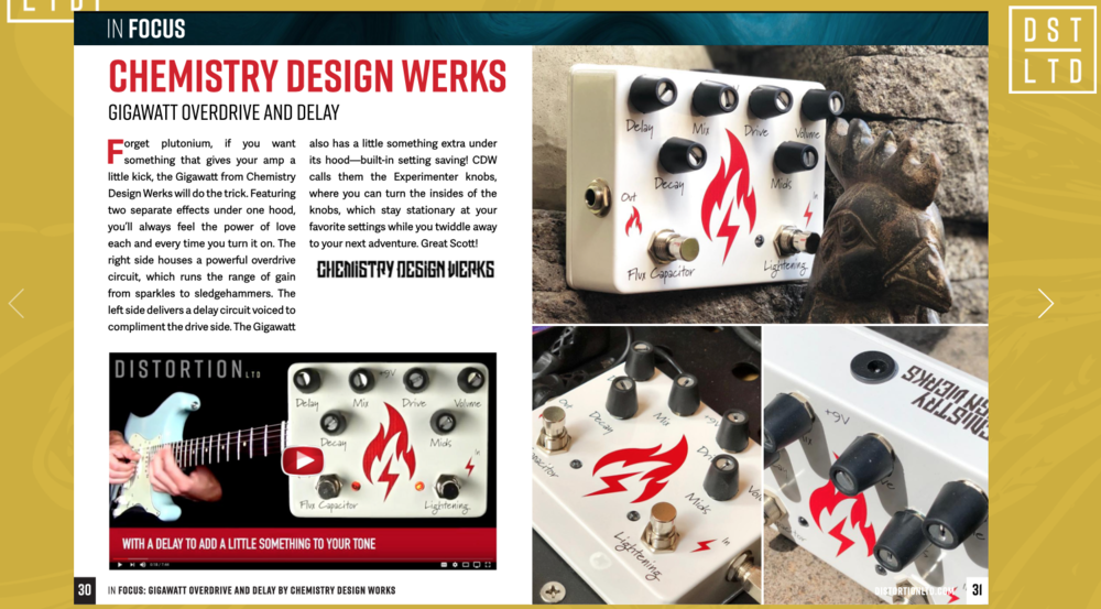 Here's a link to a great review by Distortion LTD Magazine!