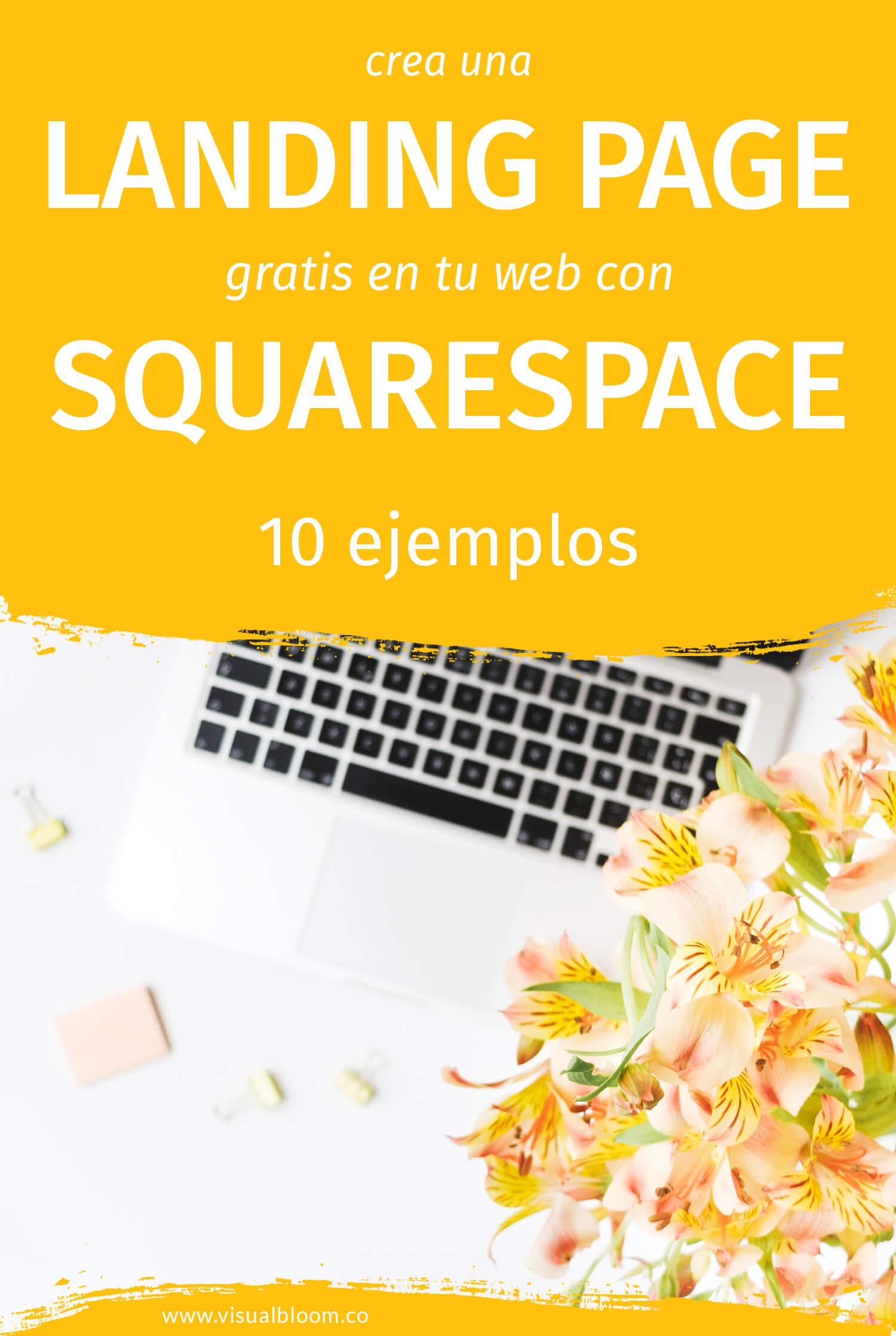 crea landing pages gratis con Squarespace