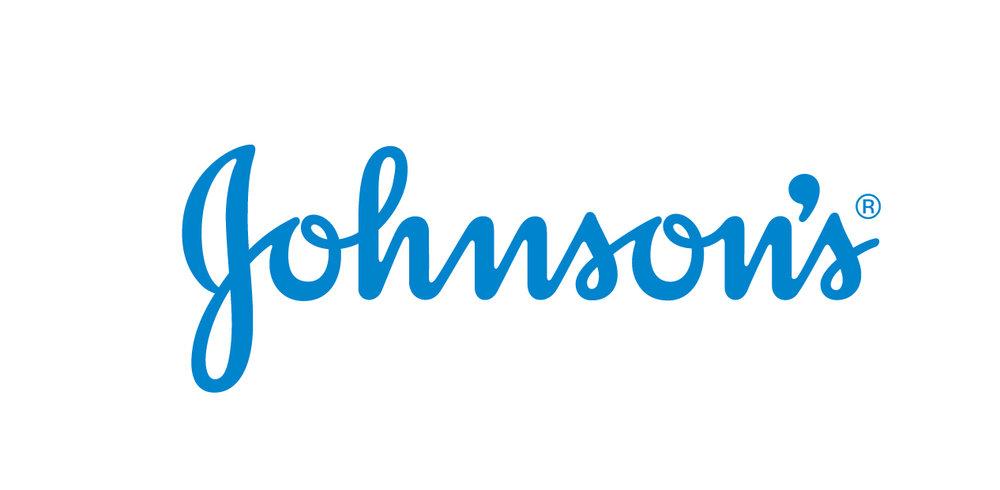Johnson's utiliza una tipografía caligráfica para su logotipo y funciona perfectamente a tamaños reducidos.