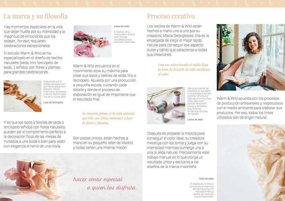 Interior del brochure