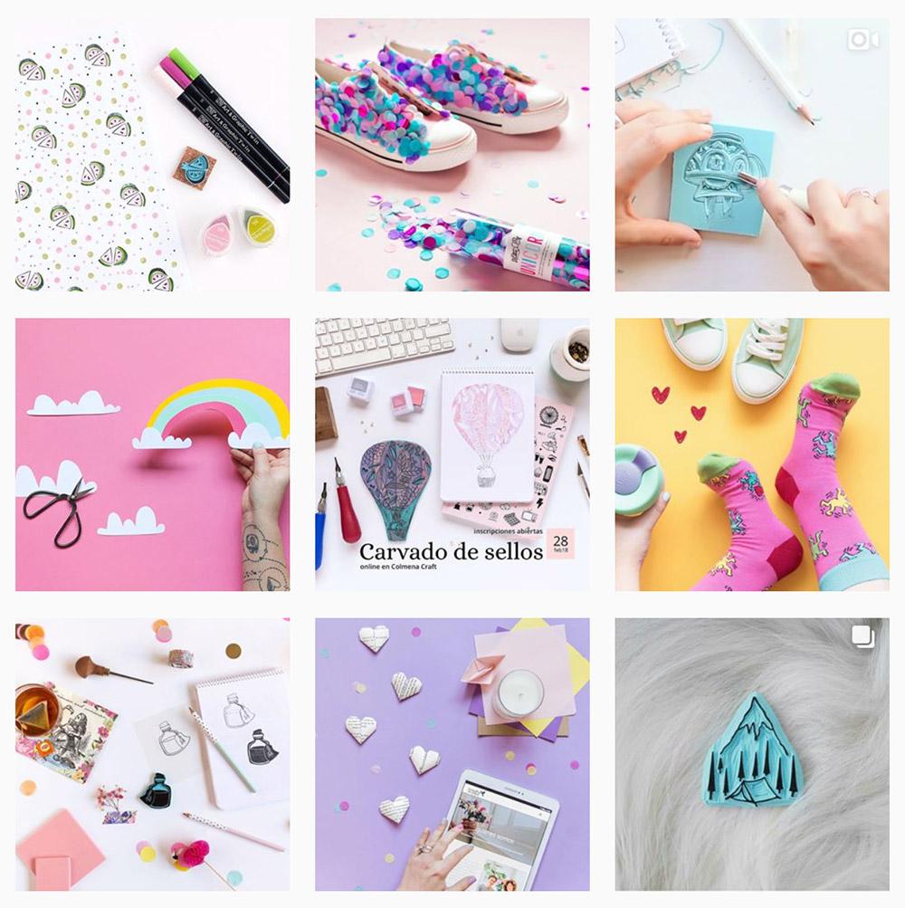 La galería de  Sami Garra  es de las más coloridas que encontrarás por Instagram, y está llena de fondos creados con cartulinas de colores.