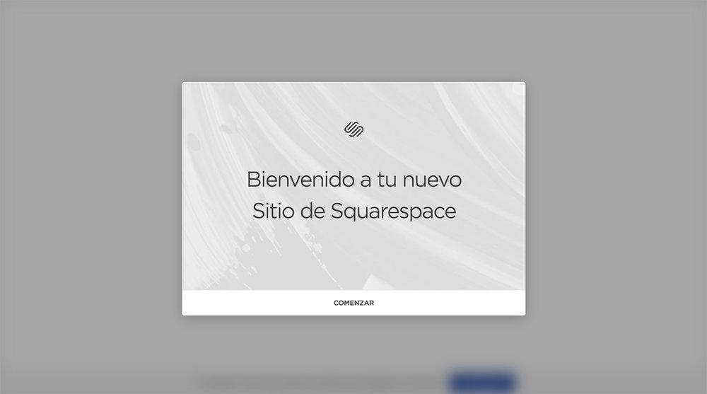 Crear sitio web en Squarespace