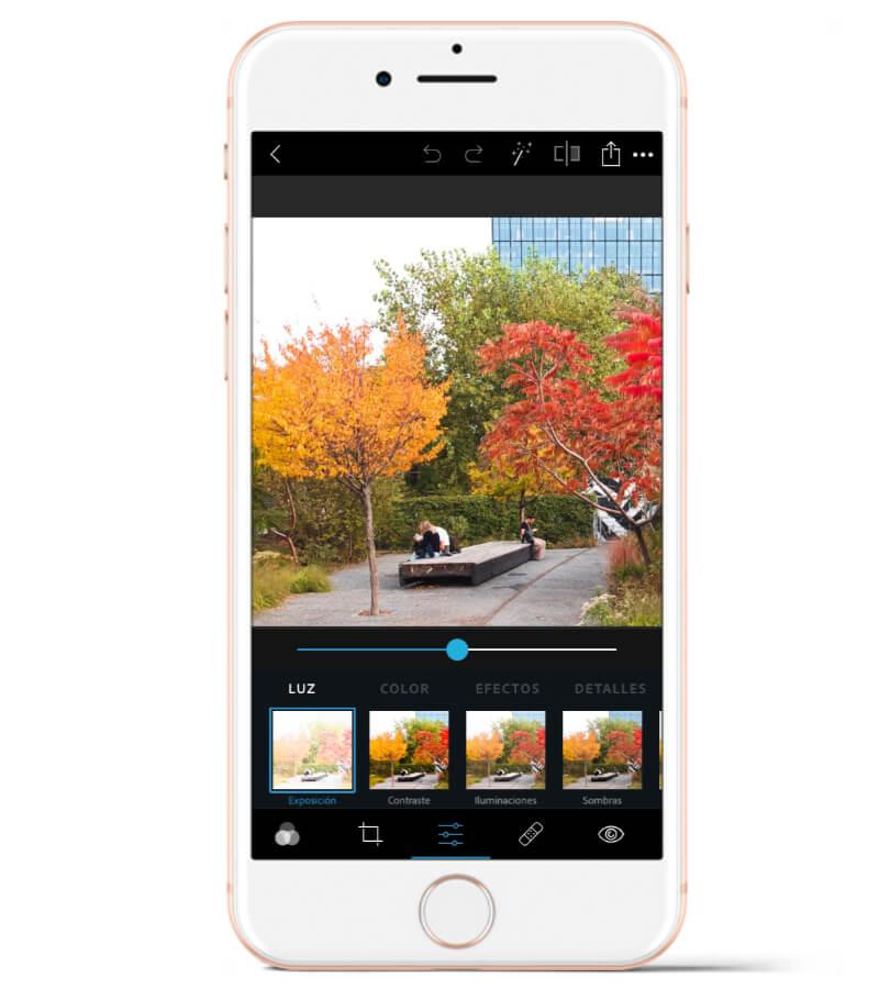 Adobe Photoshop Express es una de mis apps preferidas para editar mis fotos con el móvil.